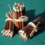 fagots brindilles crayons de couleur artisanat français