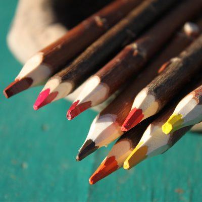 crayons de couleur fabrication artisanale française en branche atelier du crayon lesperon Landes