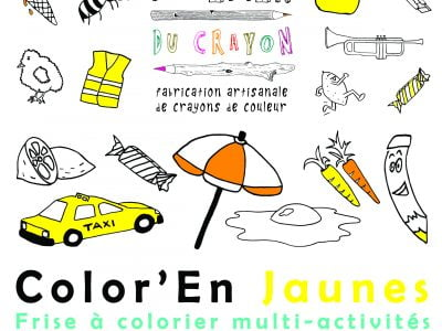 coloriage frise - Color en jaune